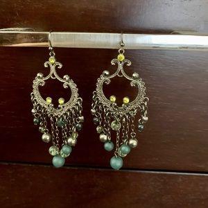 Dangly chandelier earrings